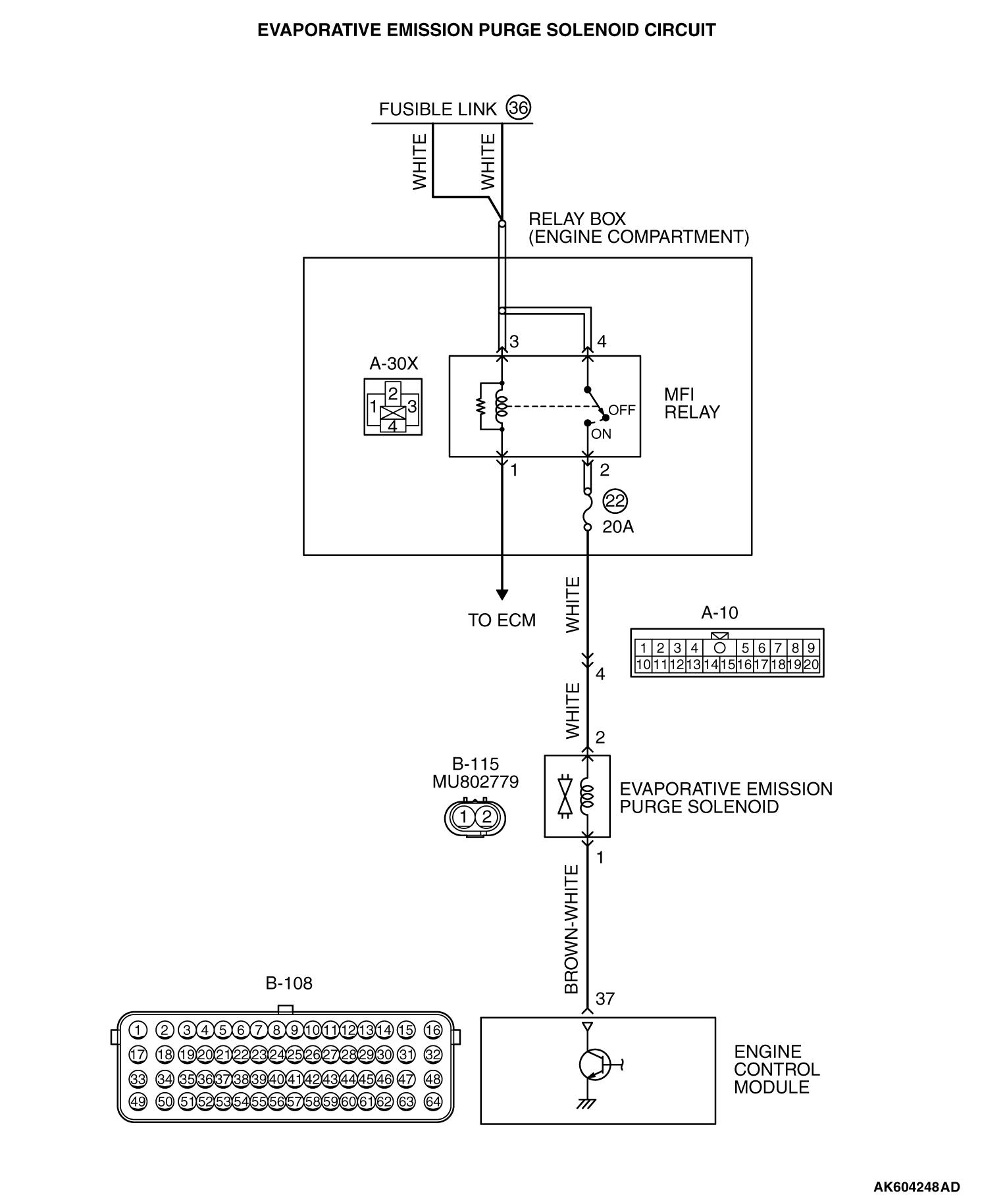 dtc p0443: evaporative emission control system purge control valve circuit